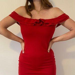 🍯4/$20🍯  ZARA Red Ruffle Dress